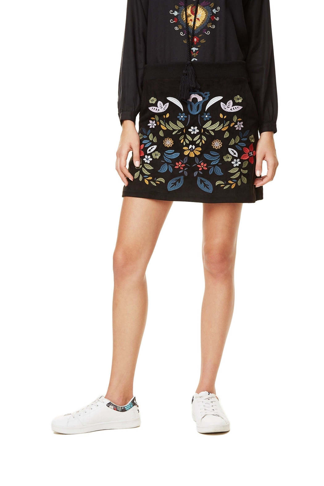 DESIGUAL Ariadna Embroidered Skirt - Main Image