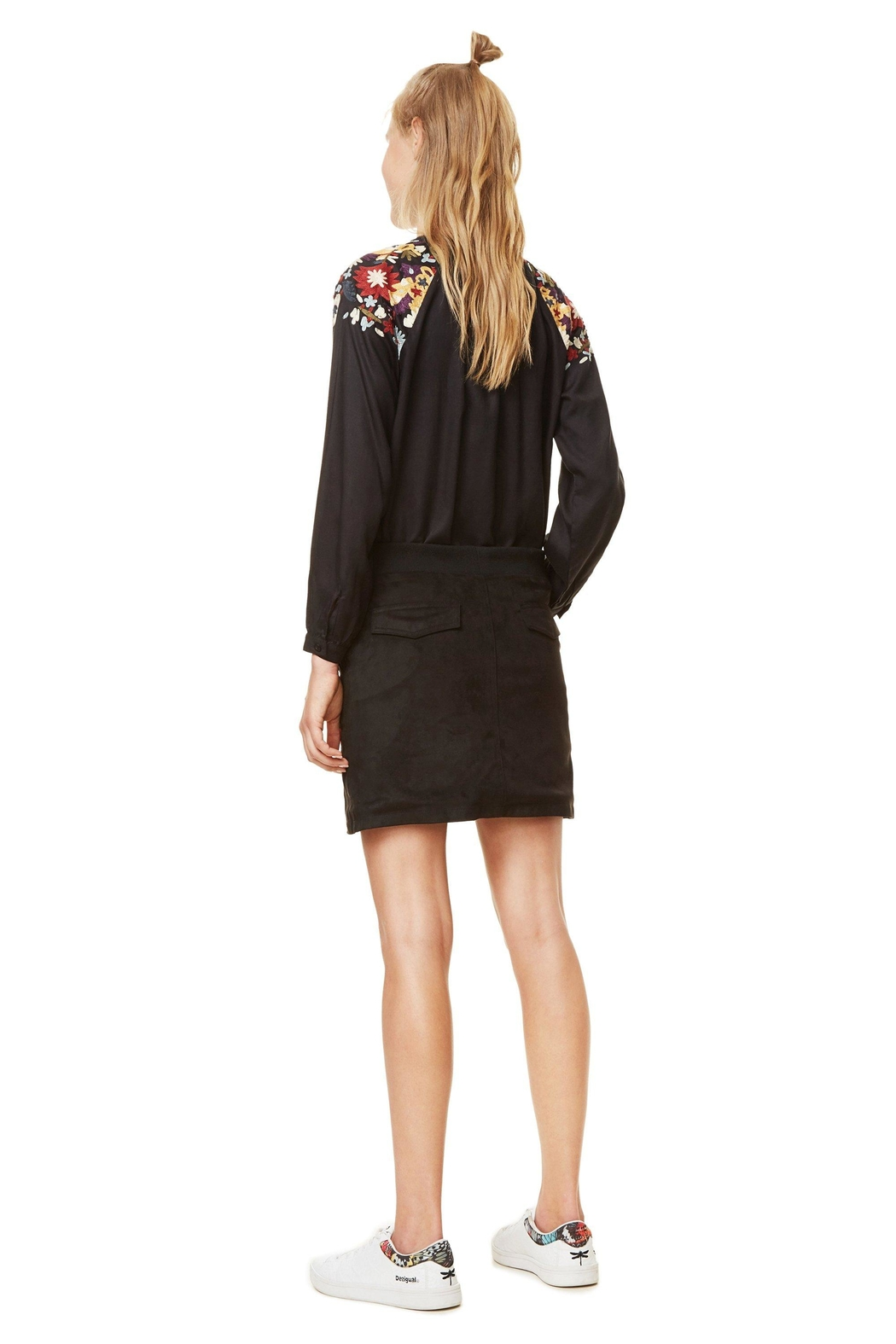 DESIGUAL Ariadna Embroidered Skirt - Back Cropped Image