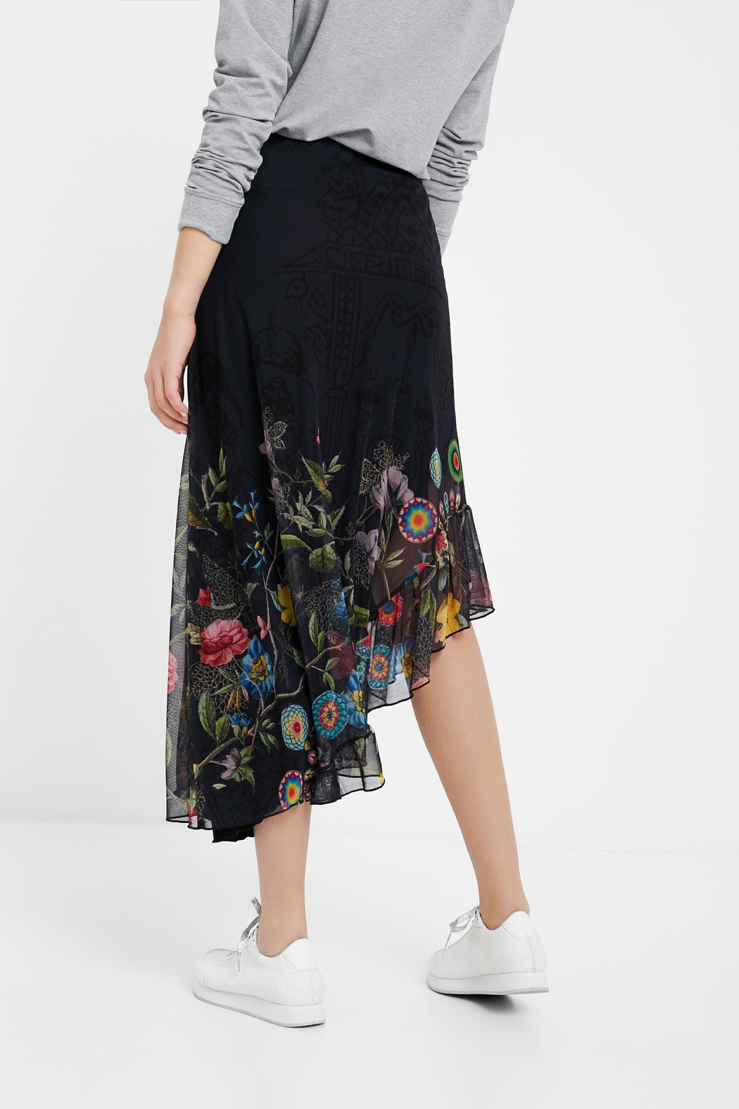 DESIGUAL Asymmetrical Tulle Skirt - Side Cropped Image