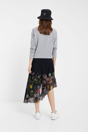 DESIGUAL Asymmetrical Tulle Skirt - Back cropped