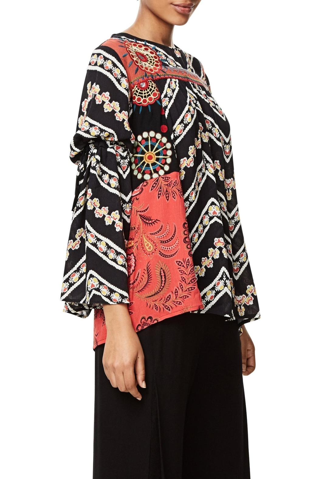 DESIGUAL Bell Sleeve Blouse - Side Cropped Image