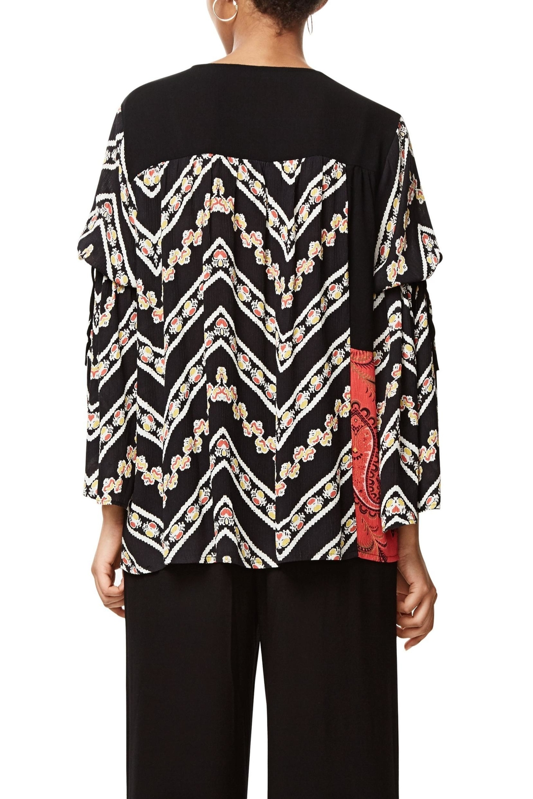 DESIGUAL Bell Sleeve Blouse - Back Cropped Image