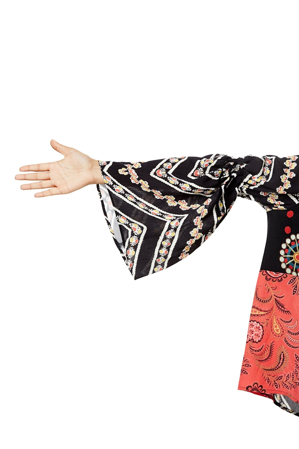 DESIGUAL Bell Sleeve Blouse - Front Full Image