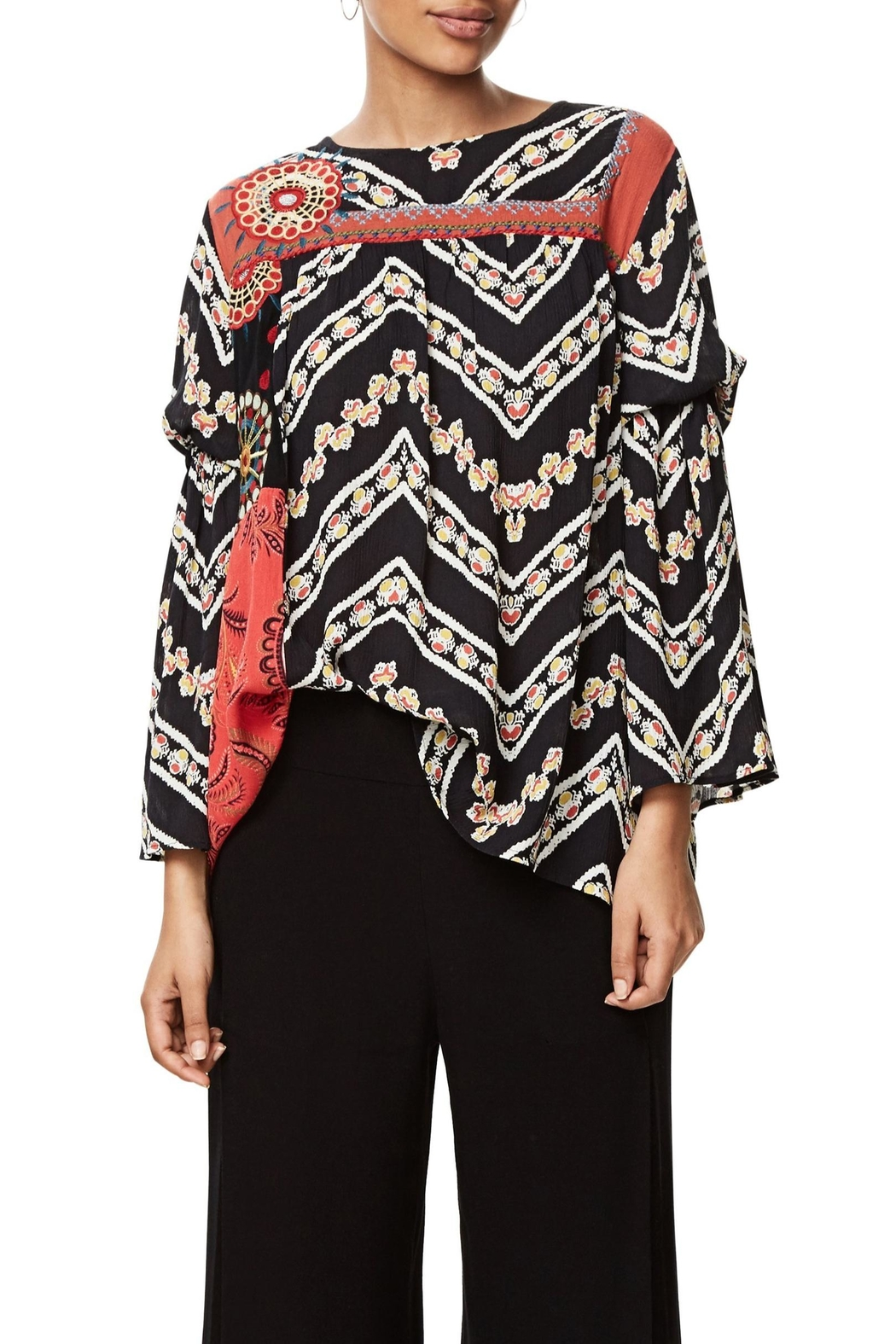 DESIGUAL Bell Sleeve Blouse - Main Image