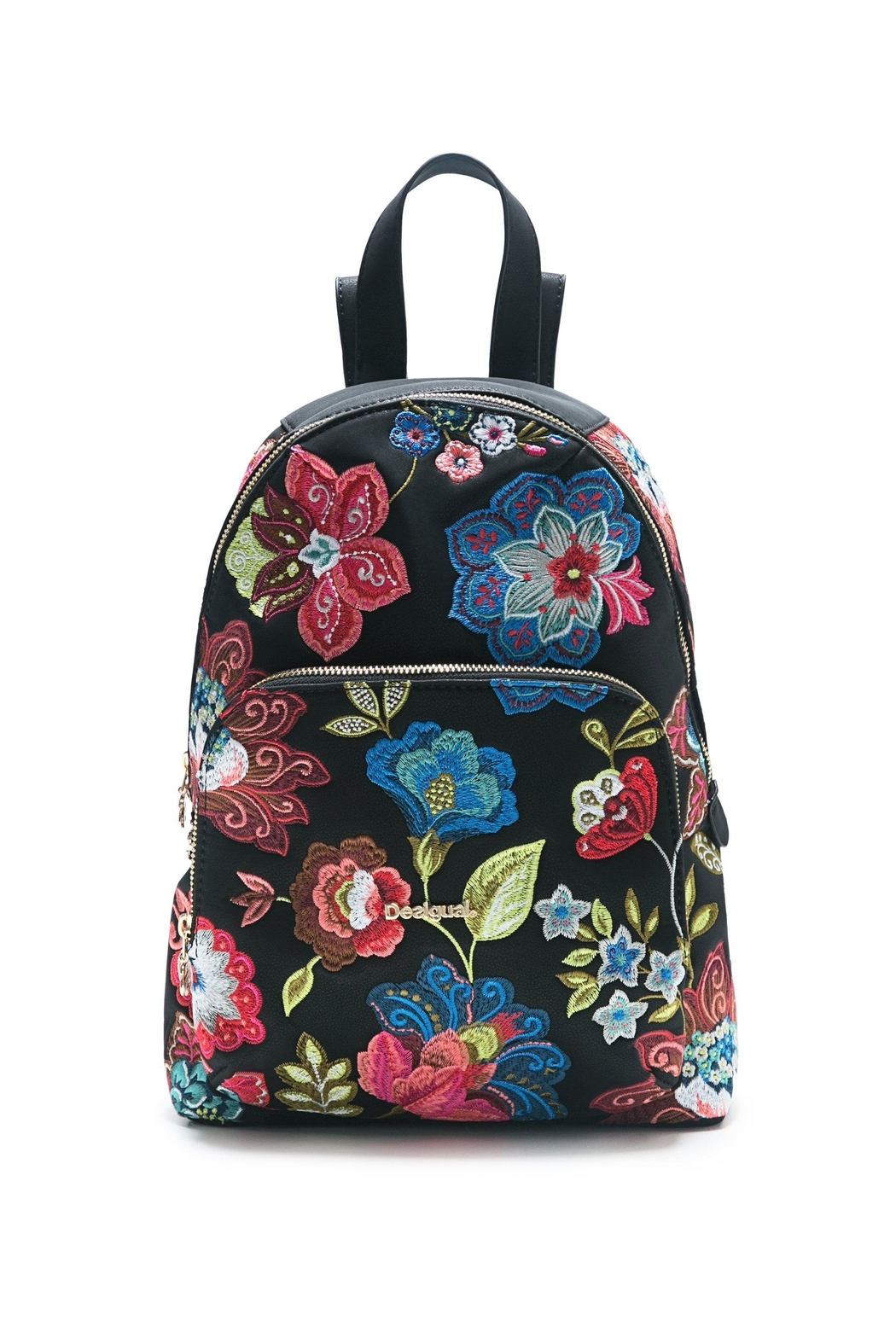 DESIGUAL Black Floral Backpack from Monterrey by Baggis Accesorios ... a8b2c67e34b