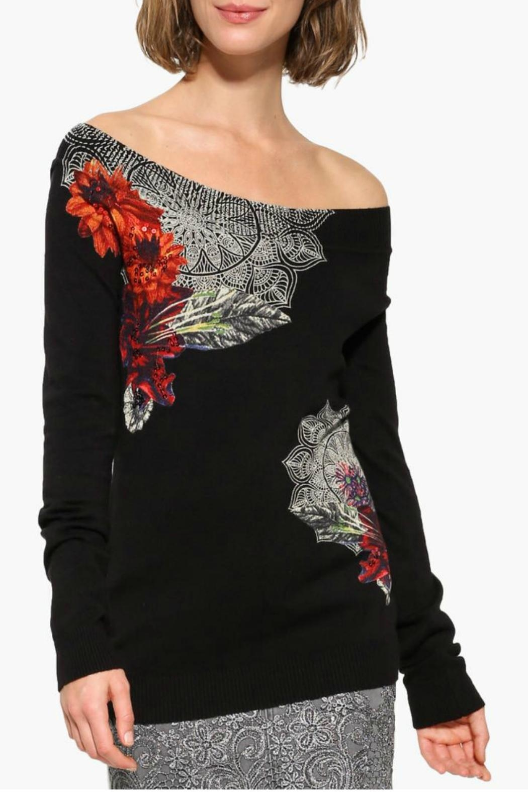 DESIGUAL Black Sweater - Front Cropped Image