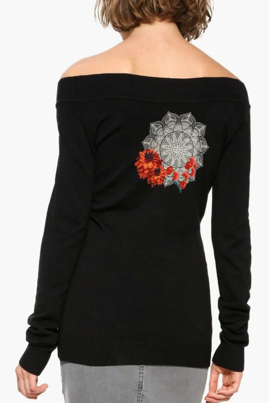 DESIGUAL Black Sweater - Front Full Image