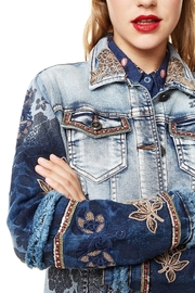 DESIGUAL Blondiblues Denim Jacket - Front full body