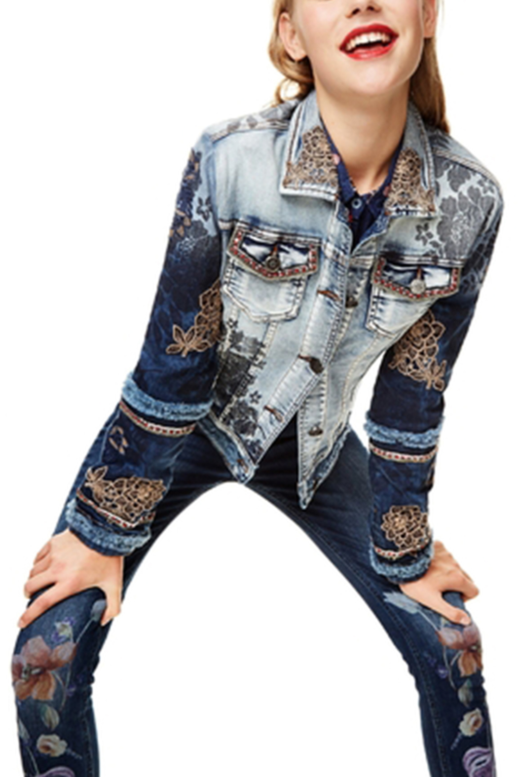 DESIGUAL Blondiblues Denim Jacket - Side Cropped Image
