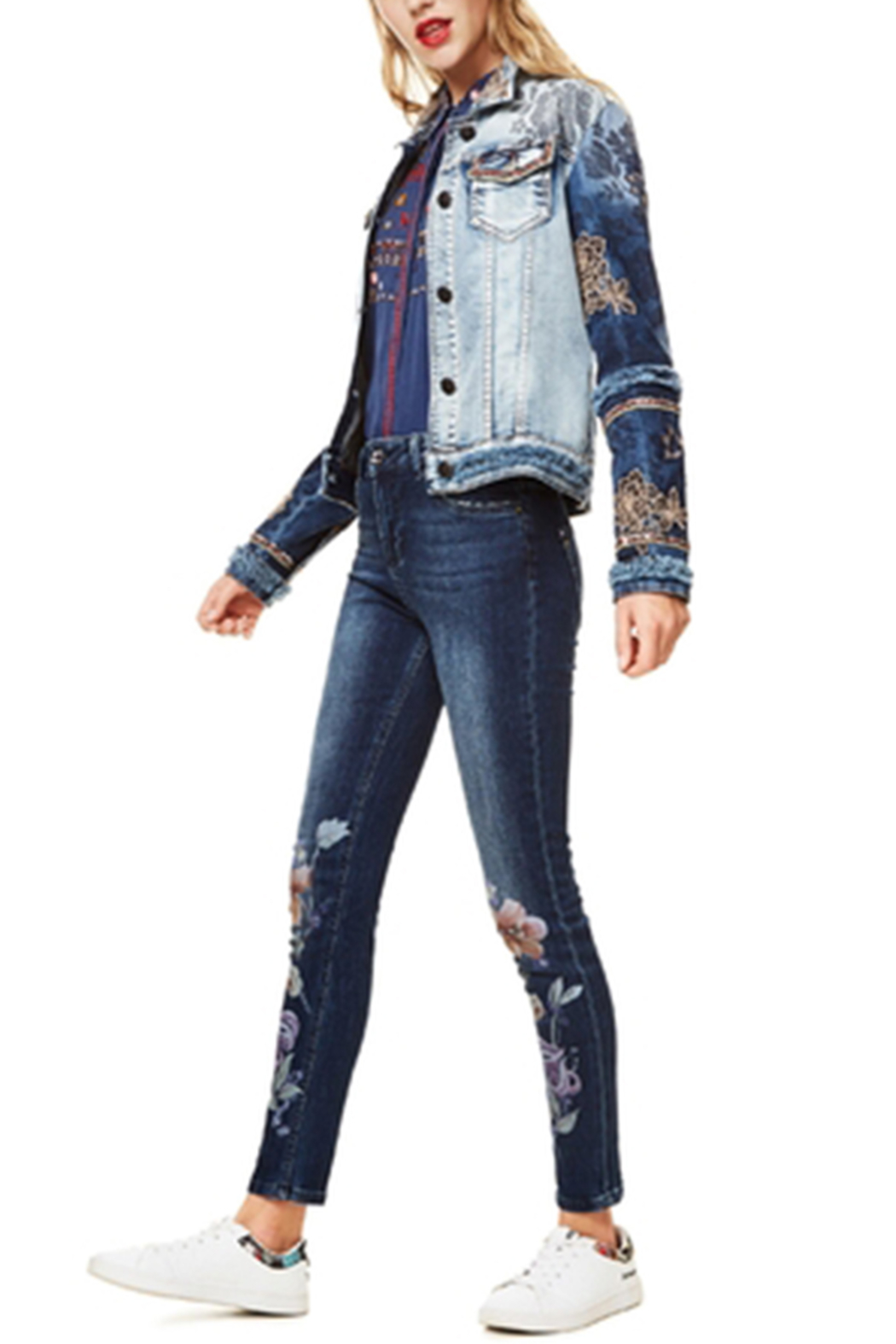 DESIGUAL Blondiblues Denim Jacket - Back Cropped Image
