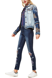 DESIGUAL Blondiblues Denim Jacket - Back cropped