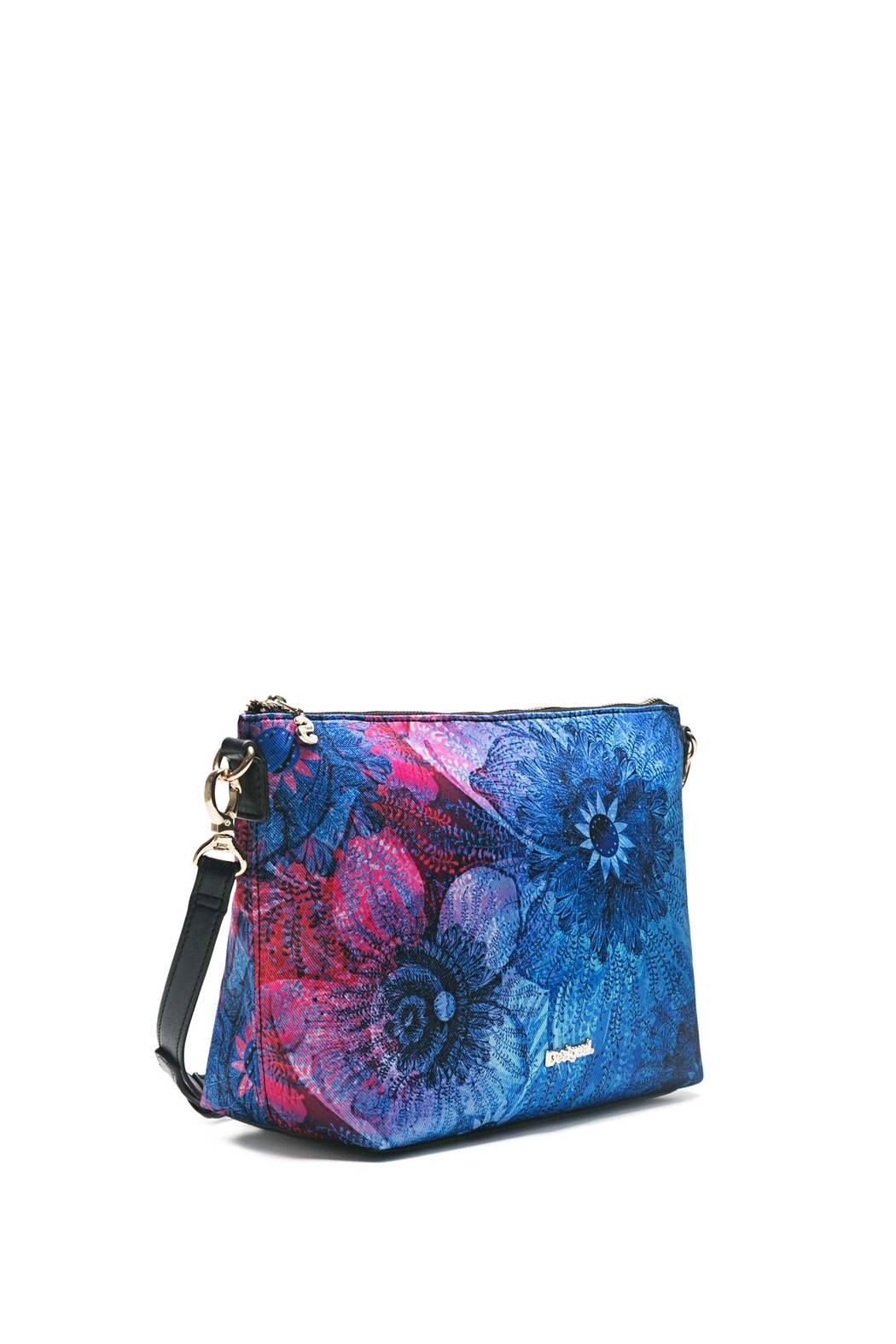 DESIGUAL Blue Messenger Bag - Side Cropped Image