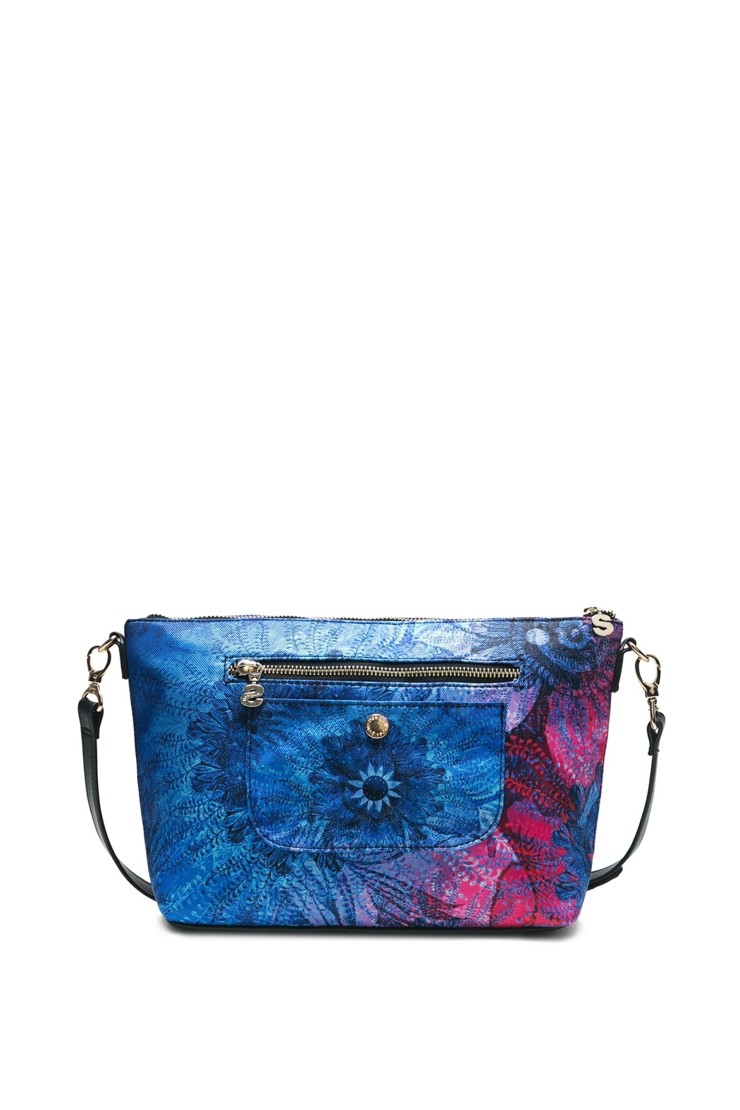 DESIGUAL Blue Messenger Bag - Front Full Image