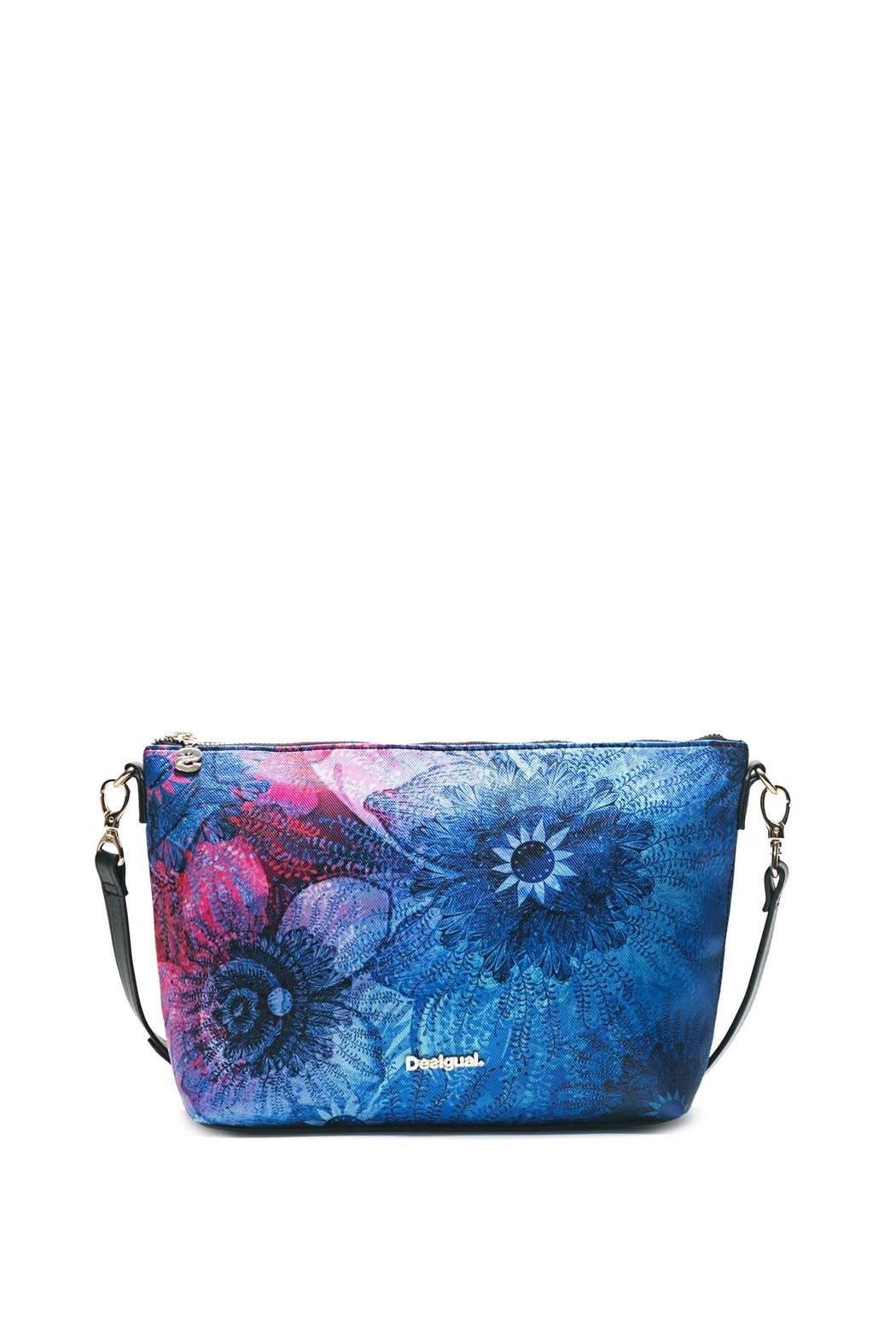 DESIGUAL Blue Messenger Bag - Front Cropped Image