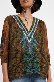 DESIGUAL Boho Lurex Blouse - Product Mini Image