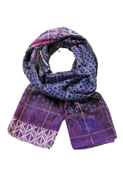 DESIGUAL Boho Purple Scarf - Front cropped
