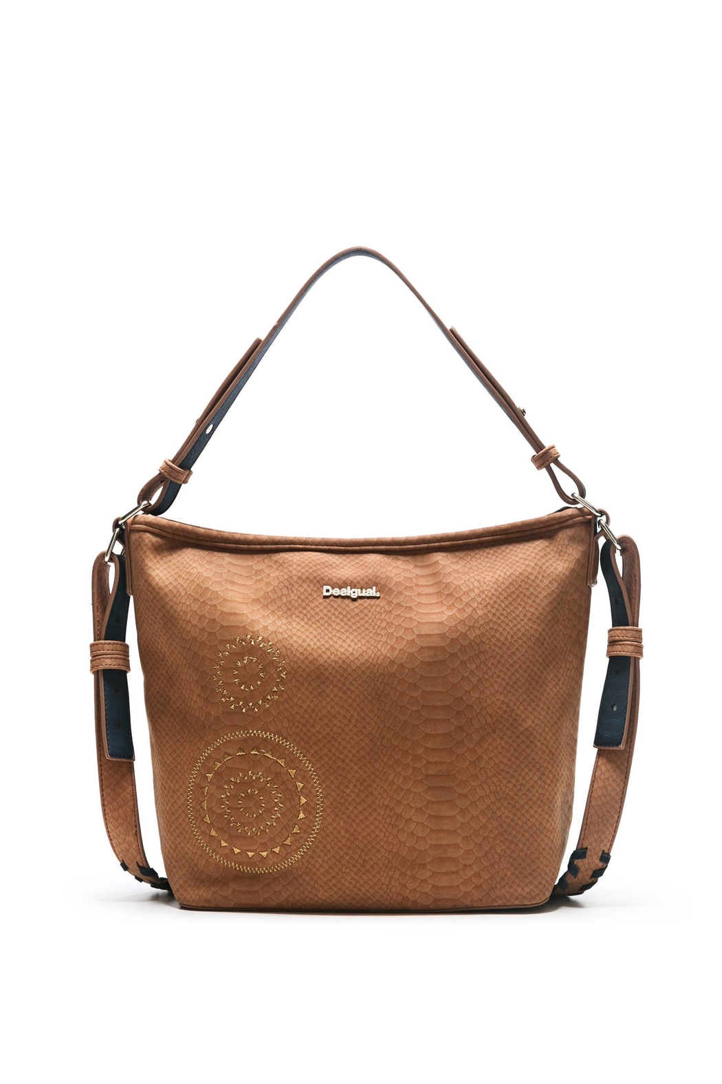 DESIGUAL Brown Shoulder Bag - Front Cropped Image