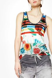 DESIGUAL Chic Floral Tank - Front cropped