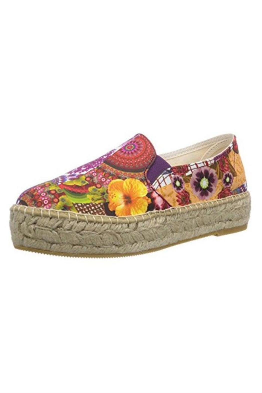 desigual colorful canvas shoe from st george by the nook