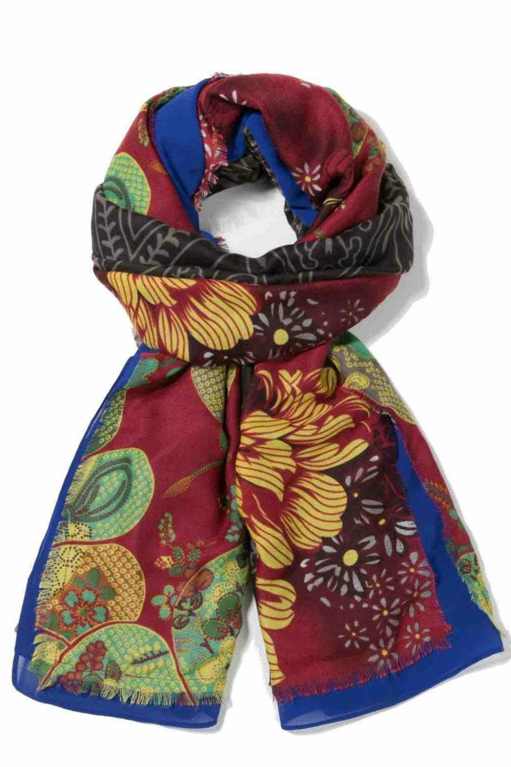 DESIGUAL Colorful Scarf - Front Cropped Image