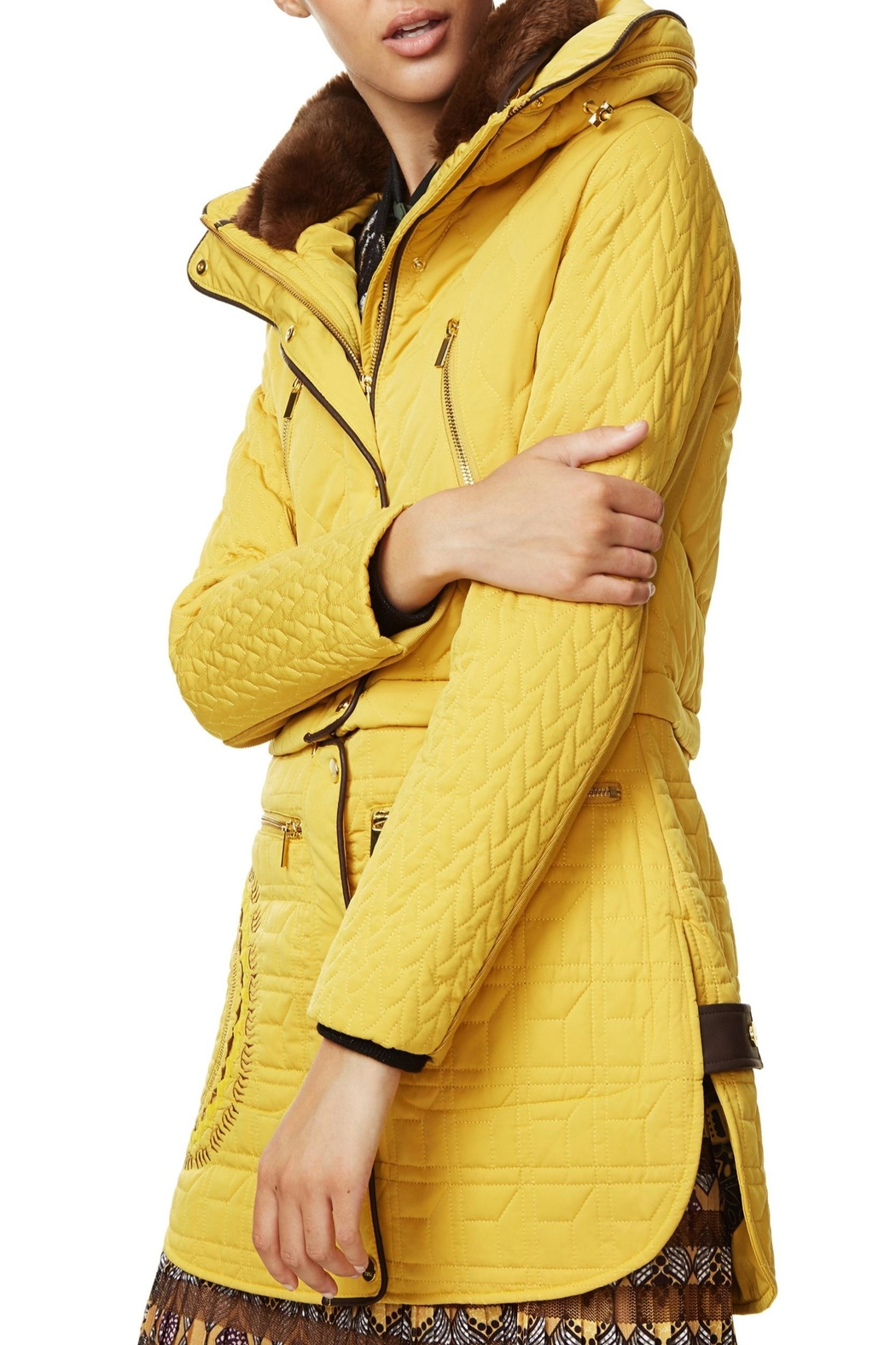 DESIGUAL Detailed Convertible Coat - Side Cropped Image