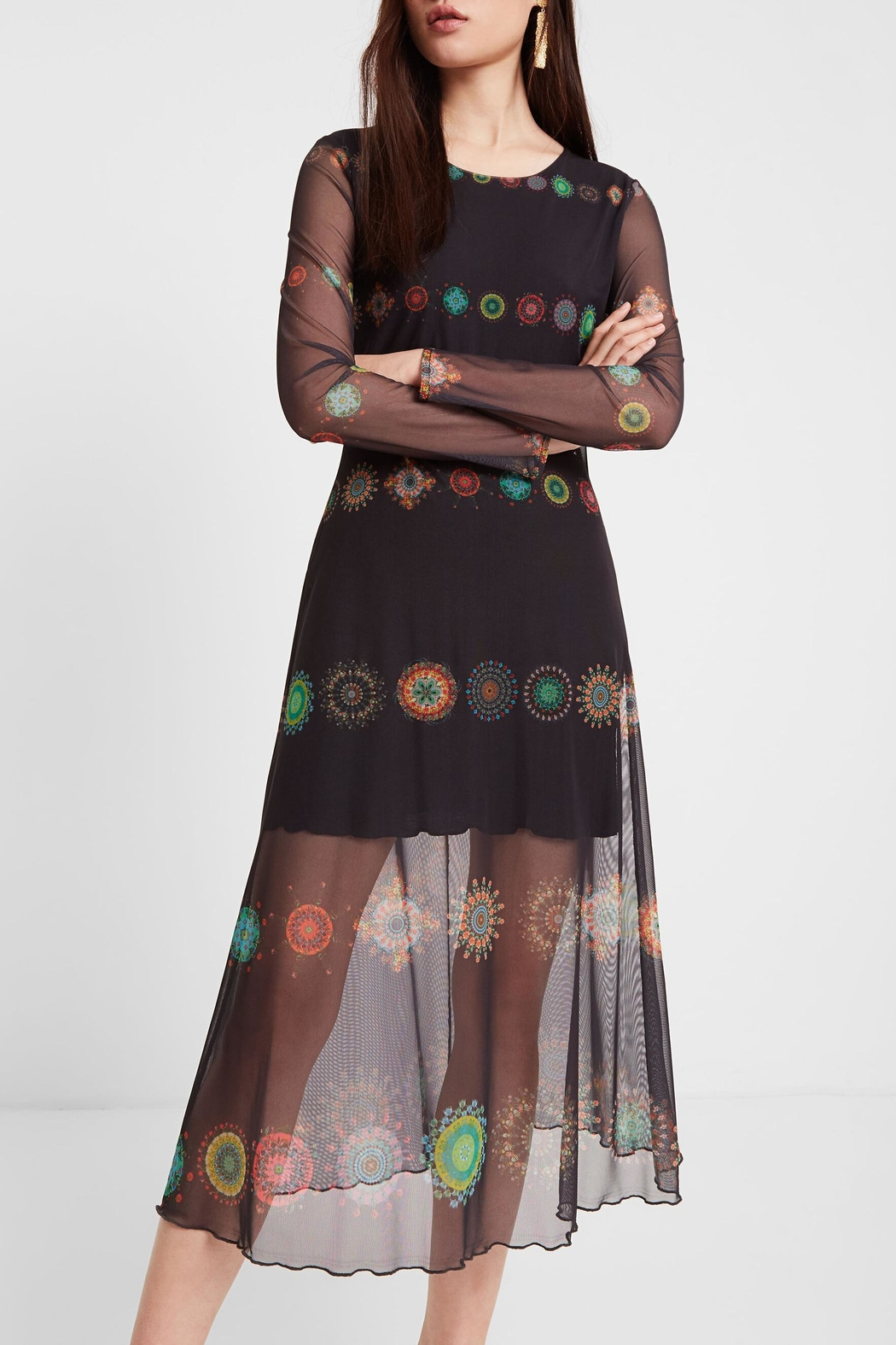 DESIGUAL Double Layer Dress - Side Cropped Image