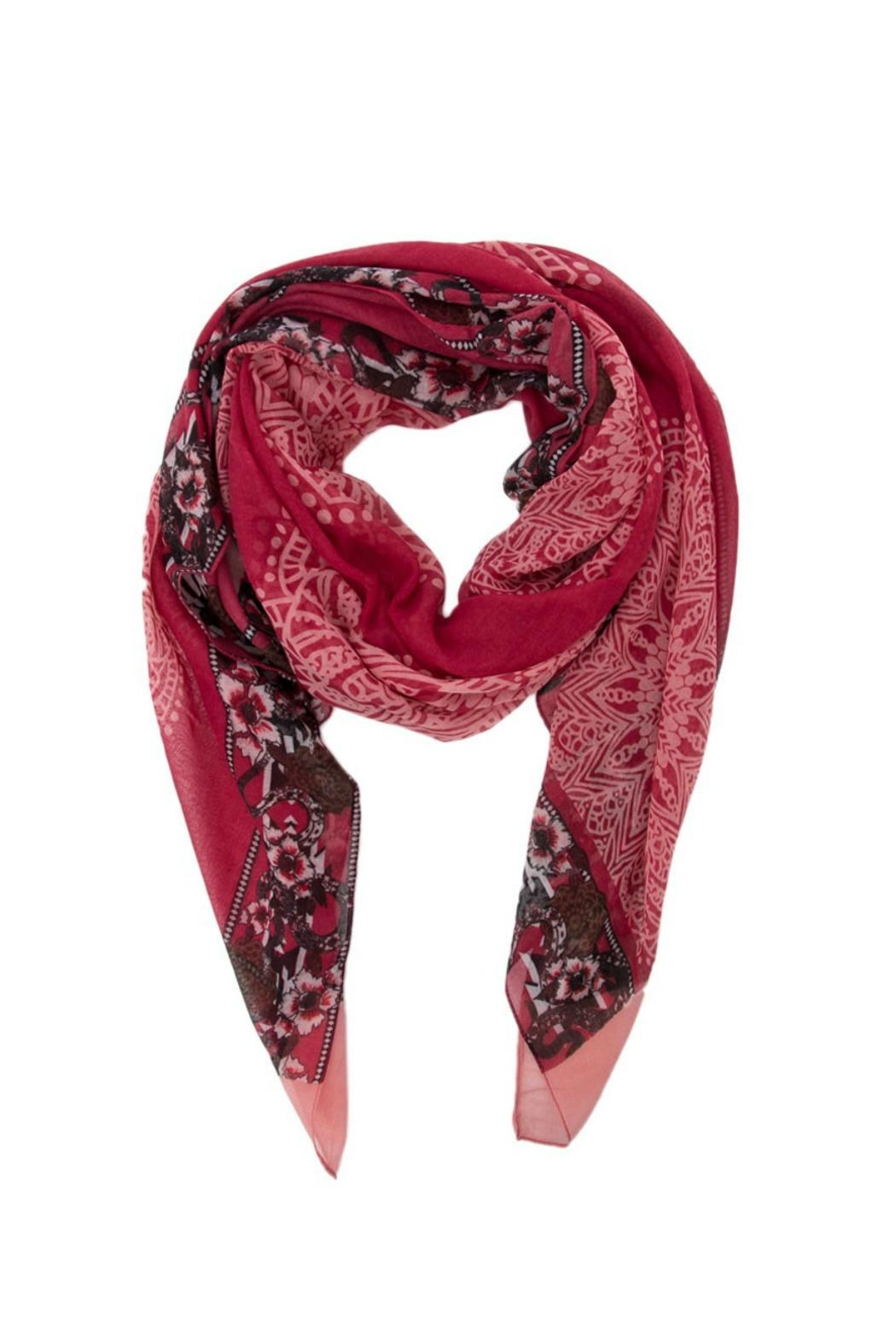 DESIGUAL Dusty Red Scarf - Main Image