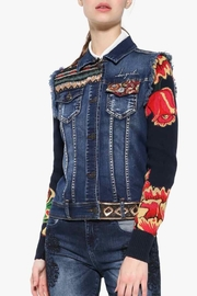 DESIGUAL Embroidered Denim Jacket - Front cropped