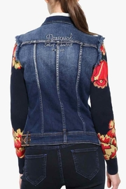 DESIGUAL Embroidered Denim Jacket - Front full body