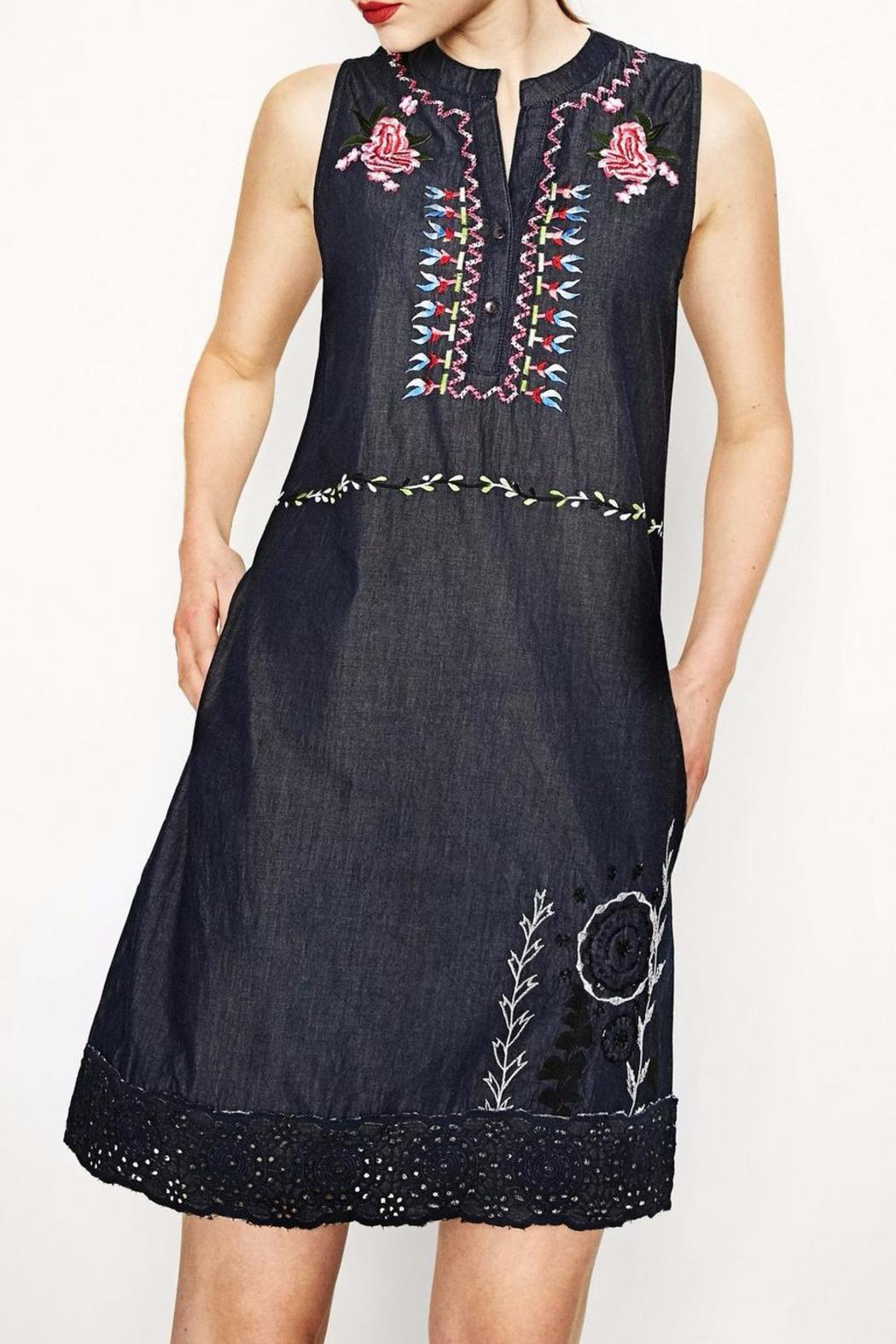 Desigual dress black and white oxford