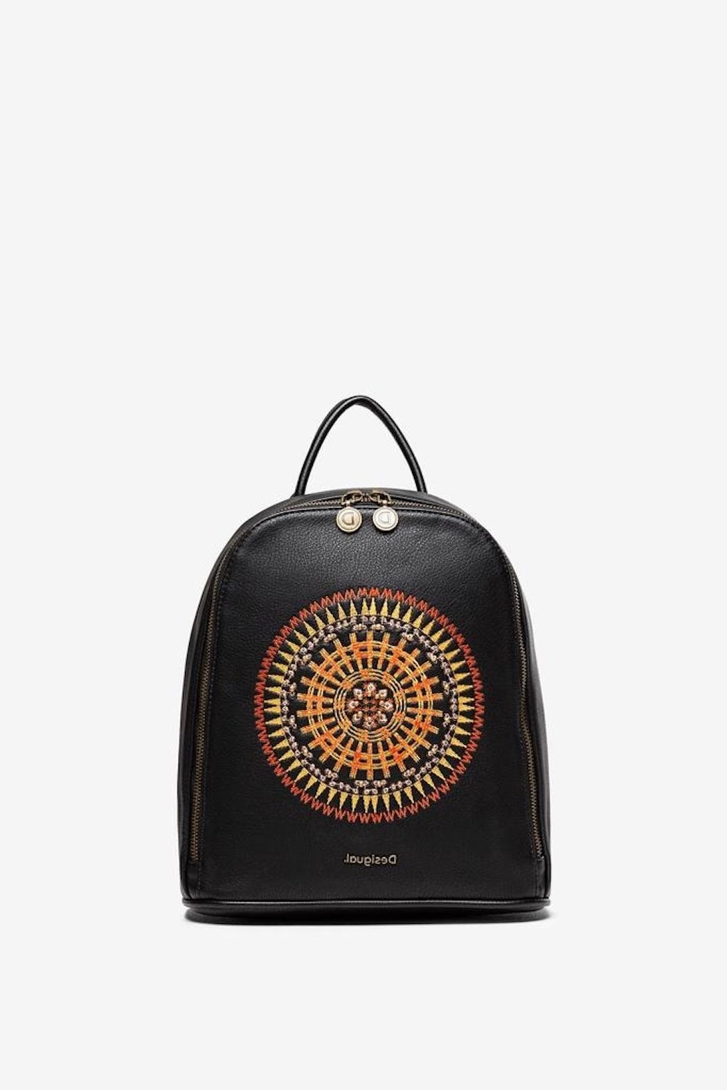 DESIGUAL Embroidered Mandala Backpack - Main Image