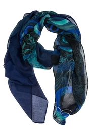 DESIGUAL Enrian Blue Scarf - Front cropped