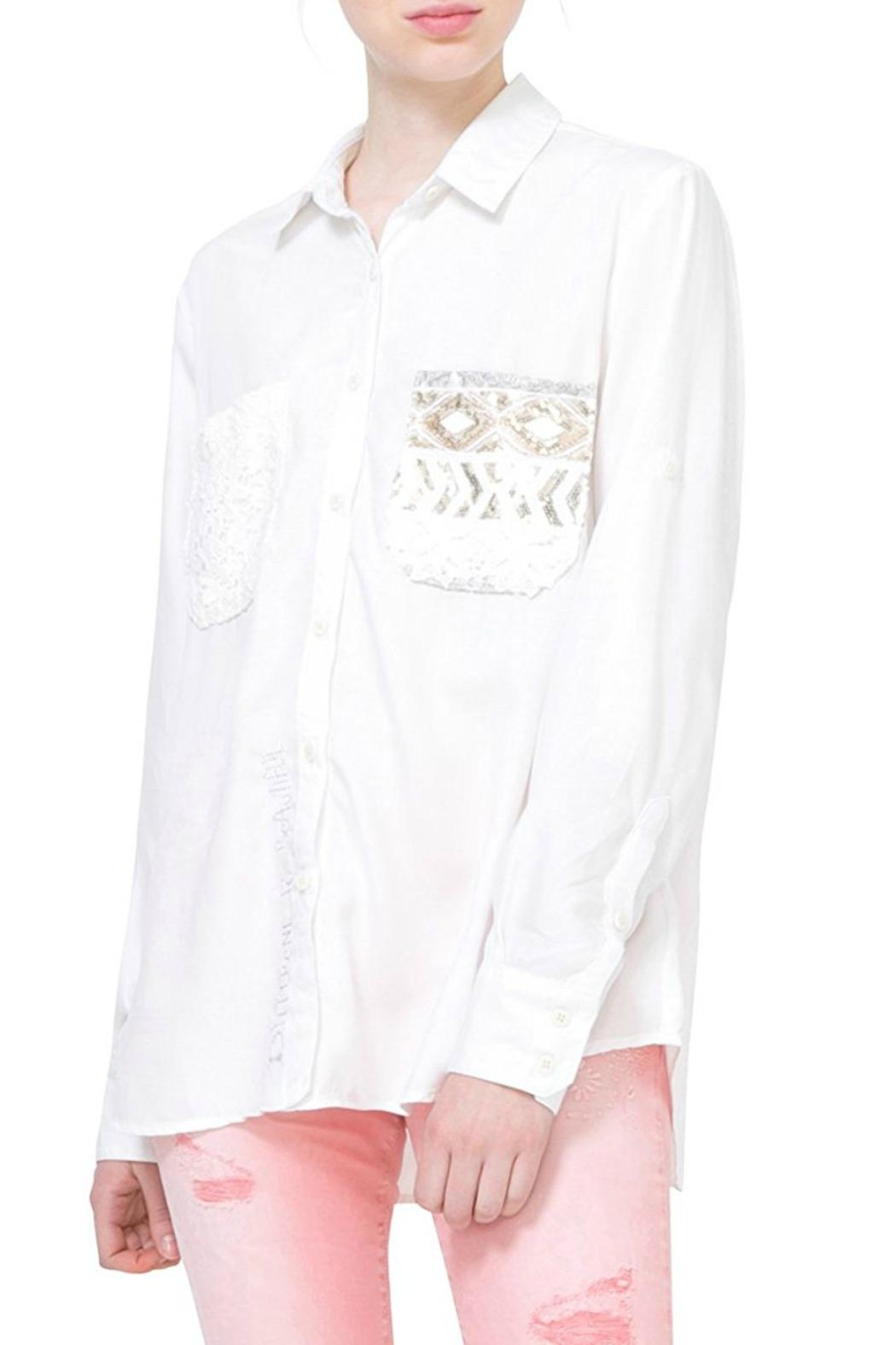 DESIGUAL Exotic White Shirt - Main Image