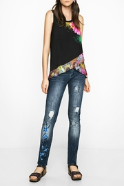 DESIGUAL Floral Black Tank Top - Other