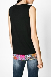 DESIGUAL Floral Black Tank Top - Front full body