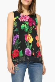 DESIGUAL Floral Layered Top - Front cropped