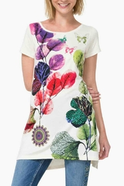 DESIGUAL Floral Top - Front cropped