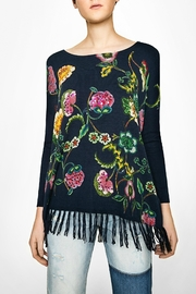 DESIGUAL Fringe Floral Top - Product Mini Image