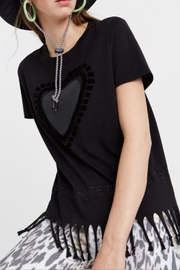 DESIGUAL Fringe Heart T-Shirt - Product Mini Image