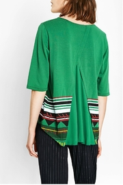 DESIGUAL Green Floral Top - Front full body