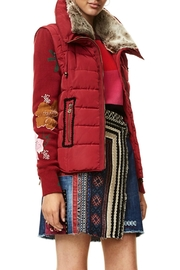 DESIGUAL Emilia Red Jacket - Front full body