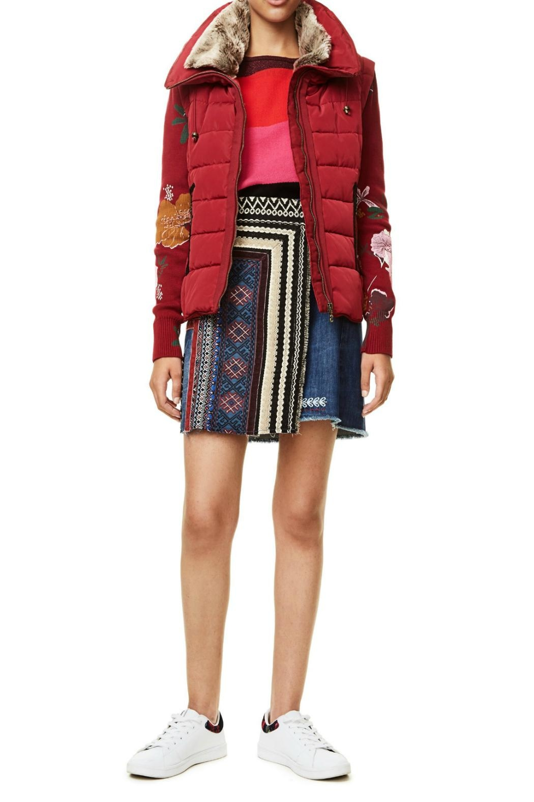 DESIGUAL Emilia Red Jacket - Front Cropped Image