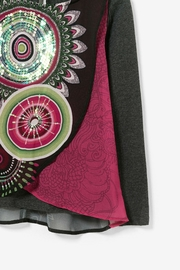 DESIGUAL Kaleidoscope Top - Front full body