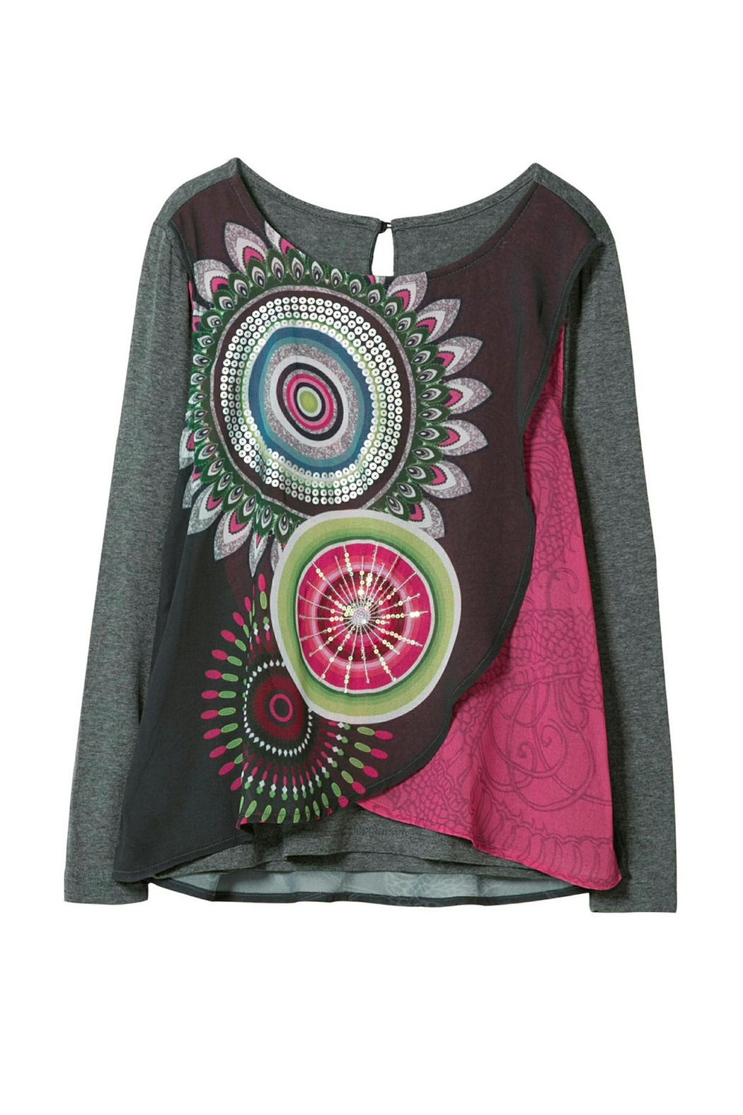 DESIGUAL Kaleidoscope Top - Front Cropped Image