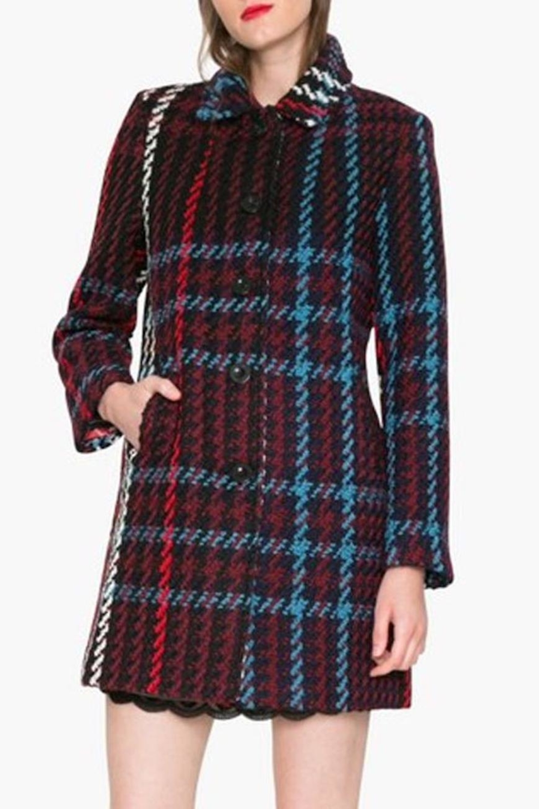 DESIGUAL Monetti Herringbone Coat - Main Image