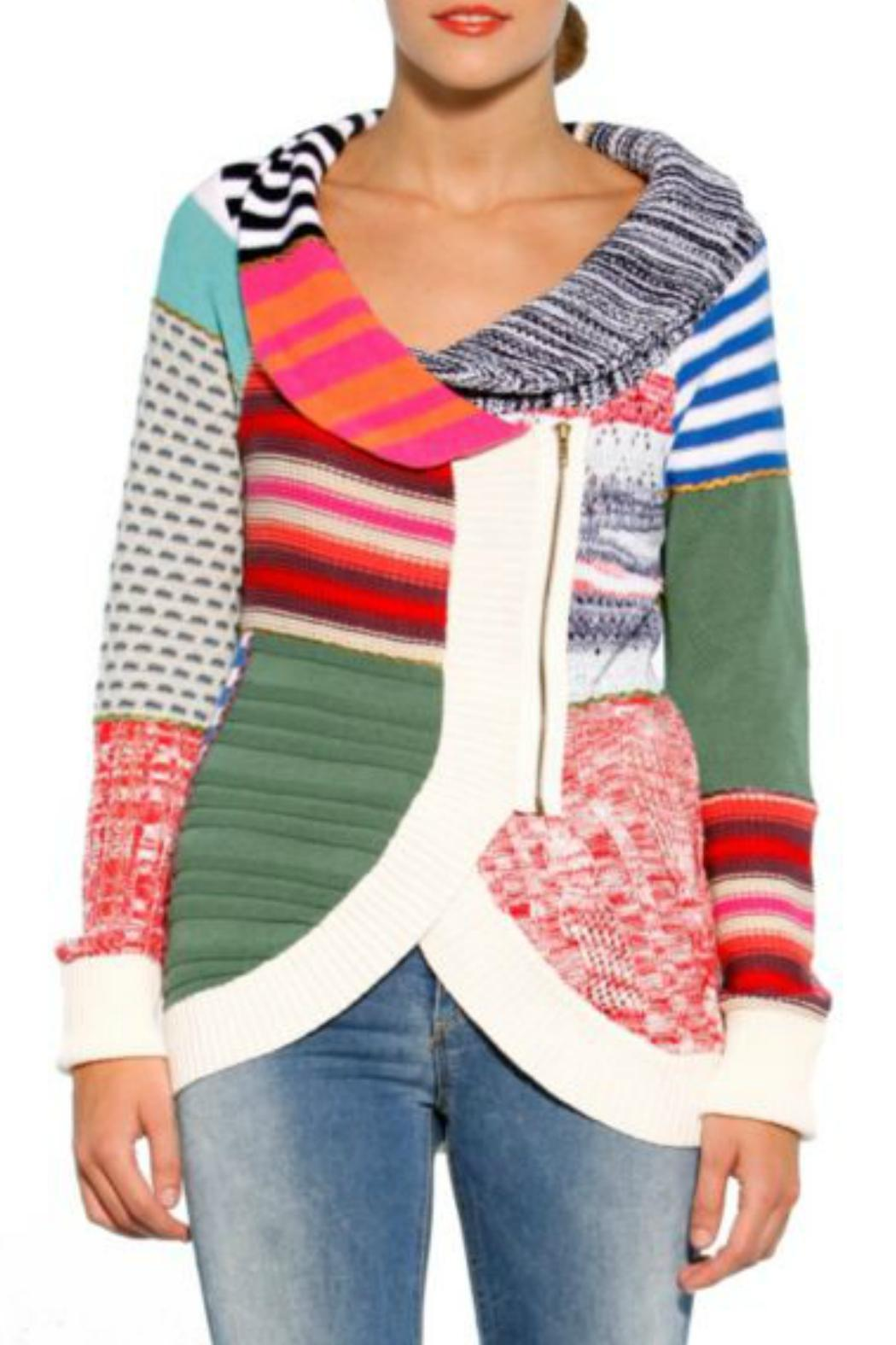By Hawaii Hurricane Pattern Limited Sweater From Desigual Multi UXnx6