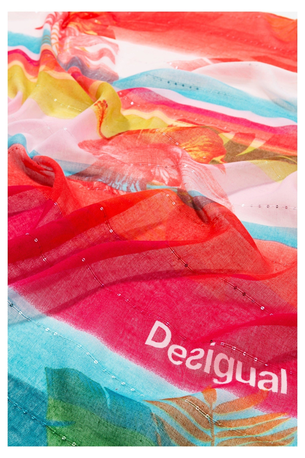 DESIGUAL Multicolor Scarf - Side Cropped Image
