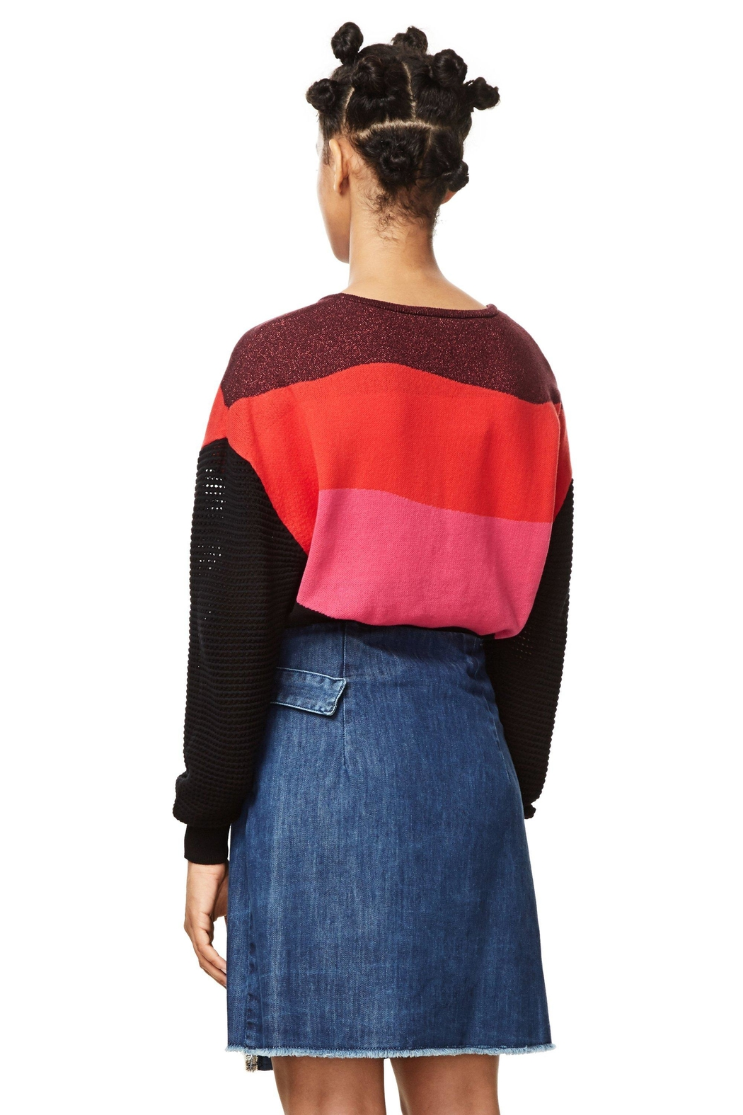 DESIGUAL Nell Embroidered Skirt - Back Cropped Image