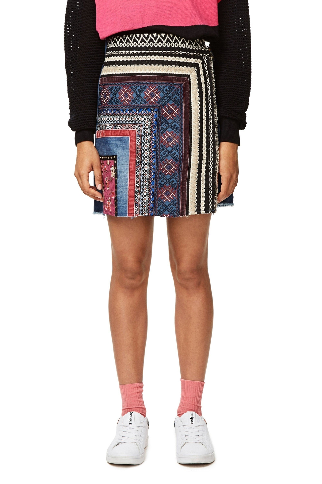 DESIGUAL Nell Embroidered Skirt - Side Cropped Image