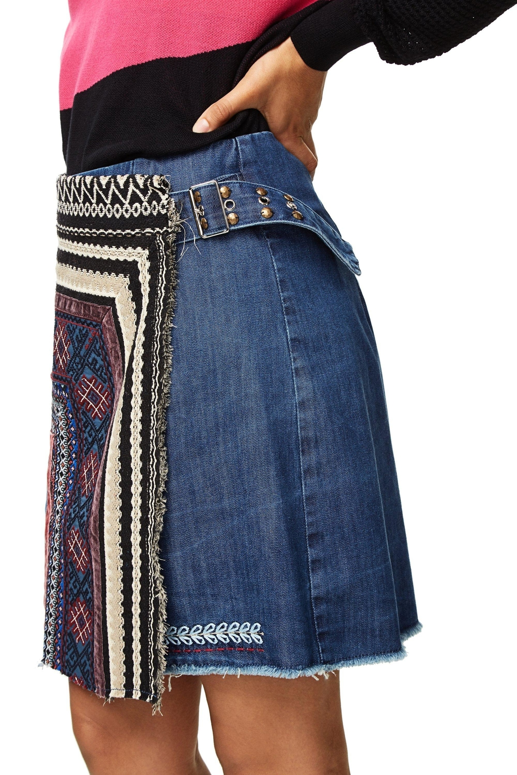 DESIGUAL Nell Embroidered Skirt - Main Image